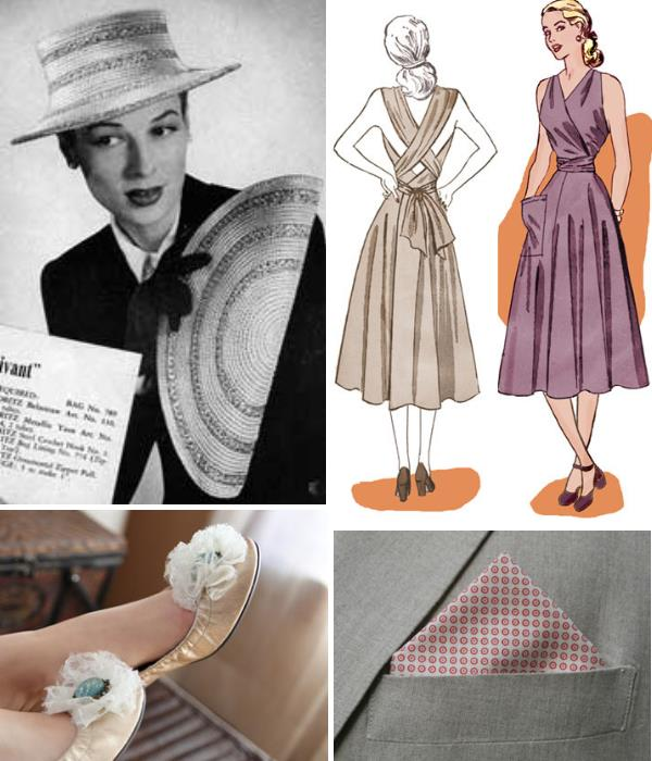 Bon Vivant Purse And Hat From Free Vintage Crochet Or Ladies Wide Brim Womens Bags Circa 1945 Eva Dress