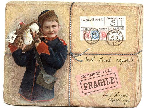 Xmas parcel postcard