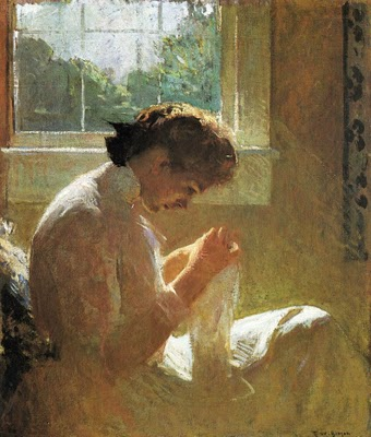 Frank W. Benson (1862-1951) The Sunny Window 1919