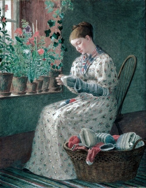 Enoch Wood Perry (1831–1915) A Months Darning
