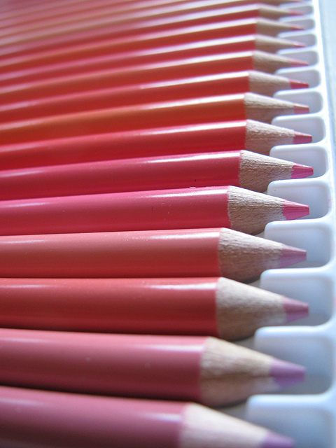 Pencils pink