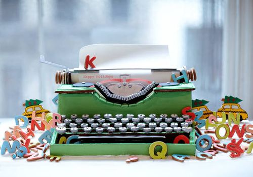 Gingerbread typewriter 1