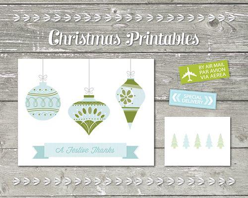 Christmasthankyoucardsprintables