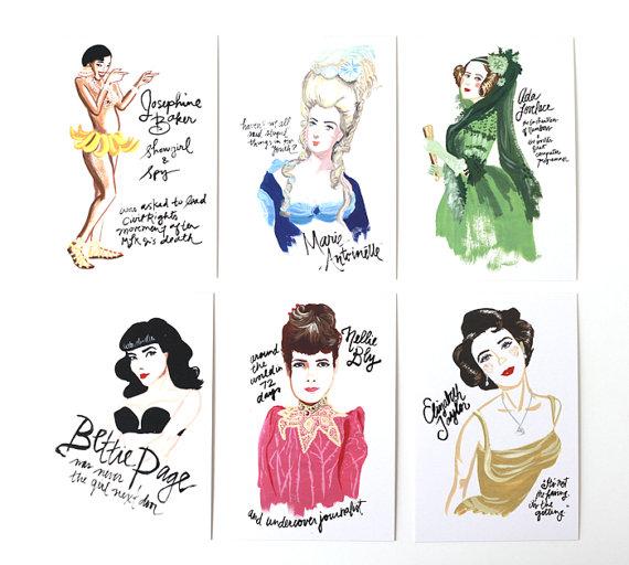 Celebrate girls postcards