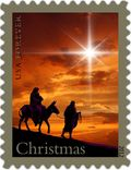 Holy family stamp