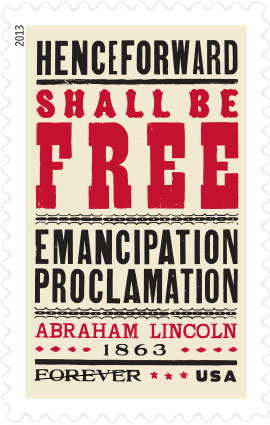 2013 emancipation stamp