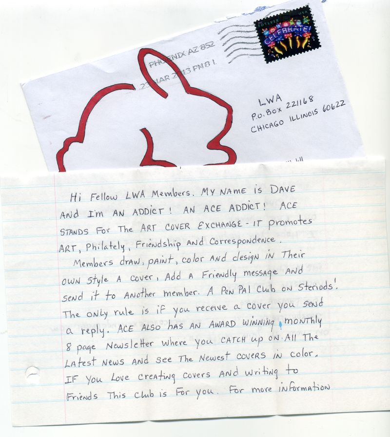 Dave ACE letter