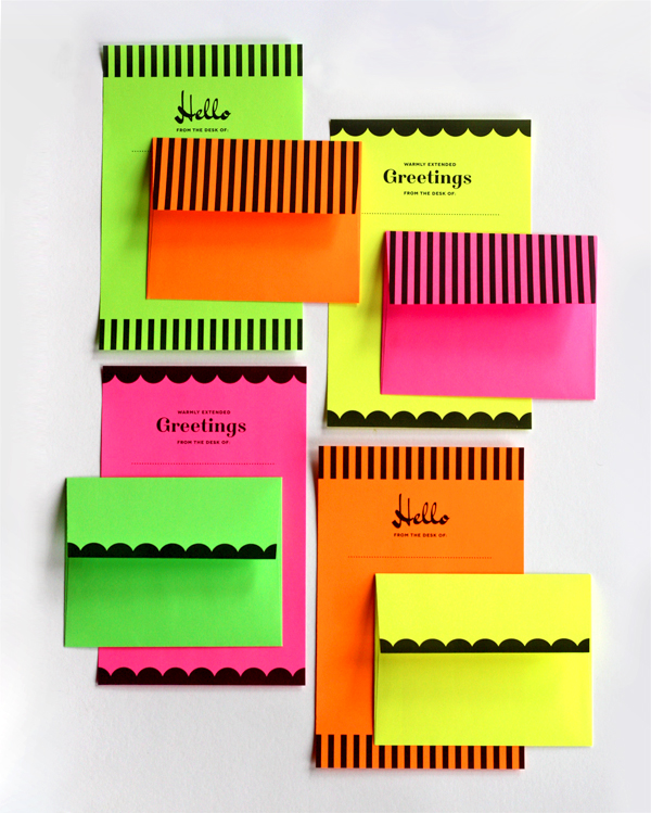Printable-neon-stationery