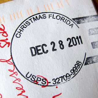 Holiday postmark