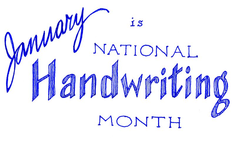 Natl handwriting month