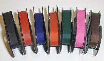 Colored typewriter ribbons