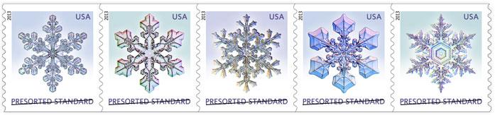 Snowflake presort stamps
