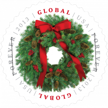 EvergreenWreath stamp