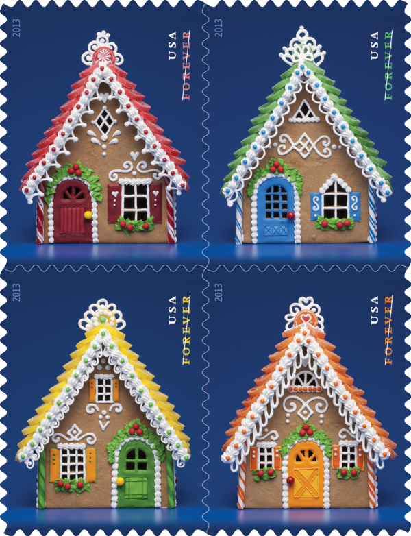 GingerBreadHouses stamps