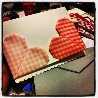 Valentine origami card