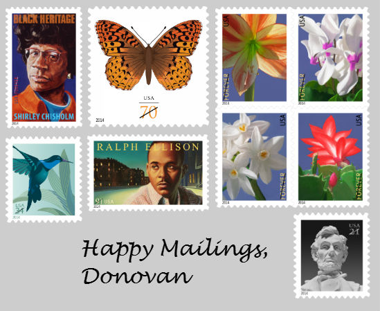 February 2014 stamps