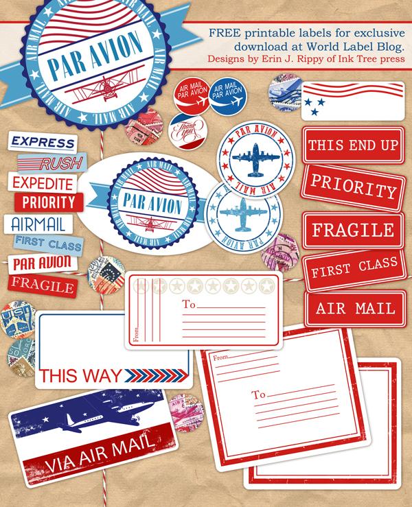Letter Writers Alliance: Par Avion Labels
