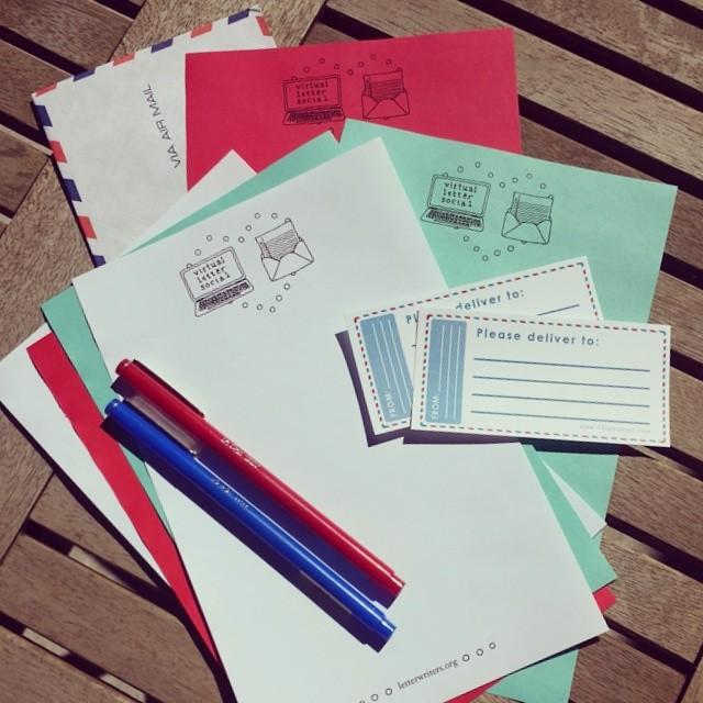 Letter social stationery