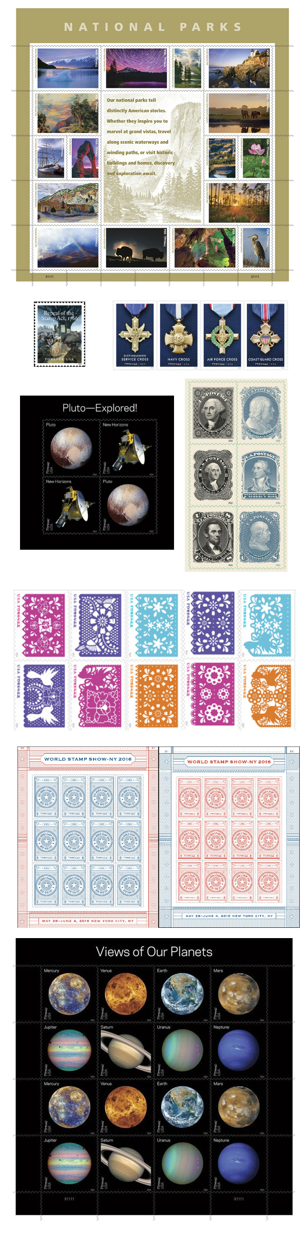 World Stamp Show stamps