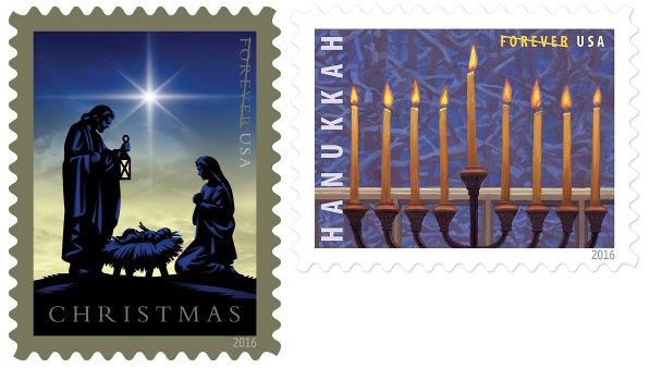 2016 christmas stamps