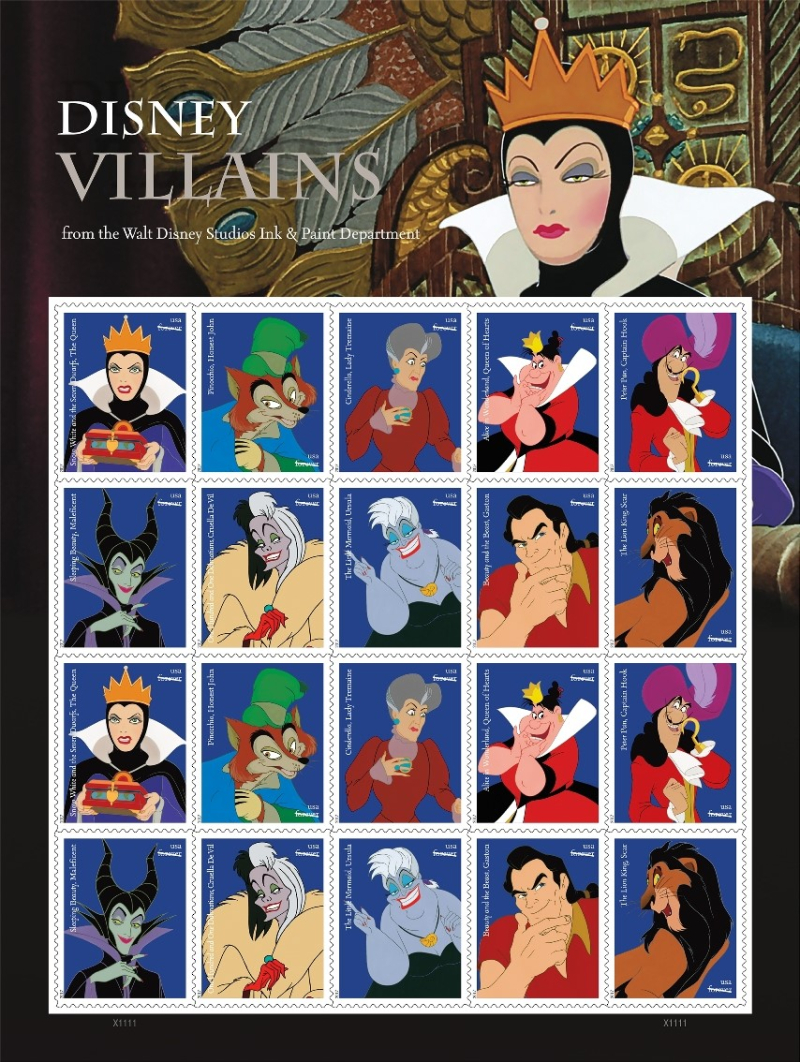 17-Disney-Villains-Stamps