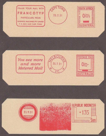 Metered postage