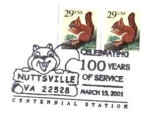 Nutsville postmark
