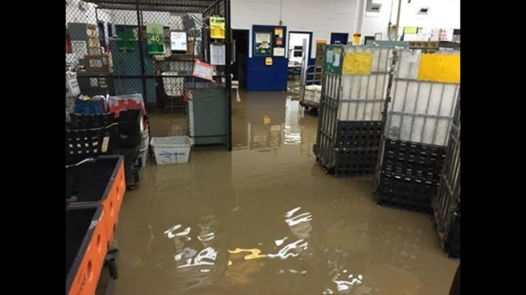 Irma flooded post office