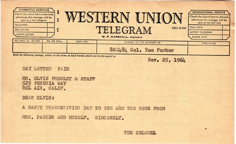 Elvis telegram