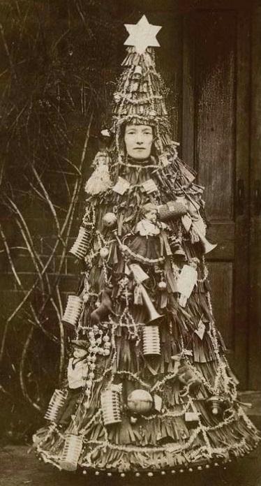 Christmas tree lady