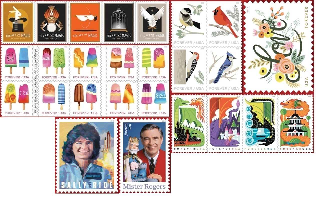 Usps Christmas Stamps.Letter Writers Alliance 2018 U S P S Postage Stamp Preview