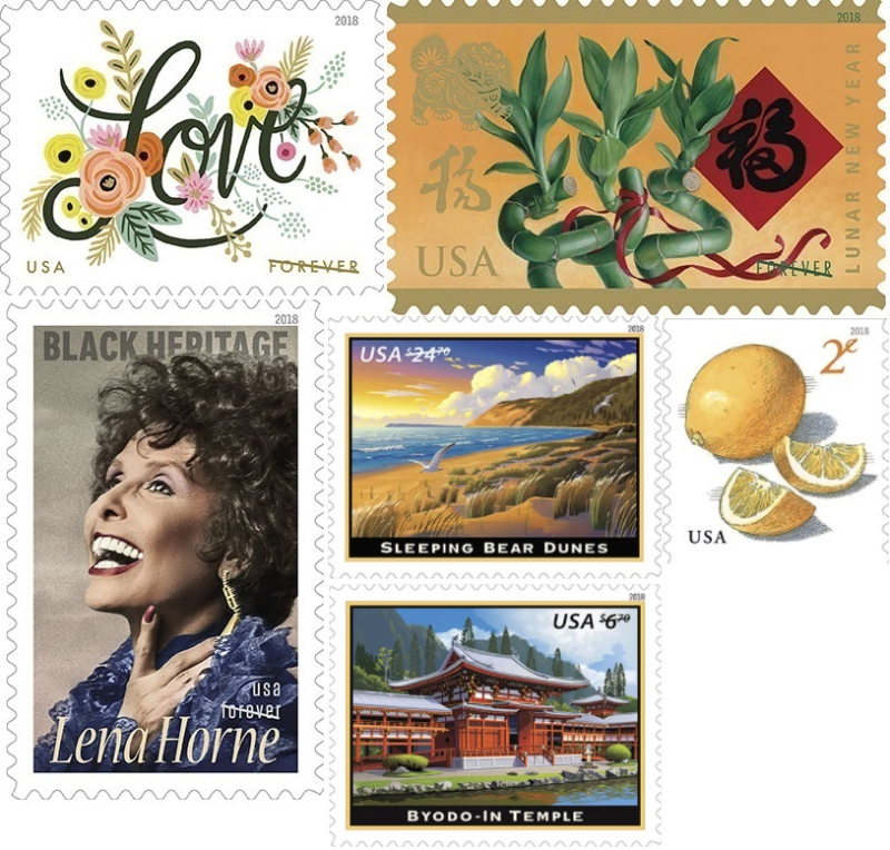 Letter Writers Alliance: Stamp Releases: January 2018