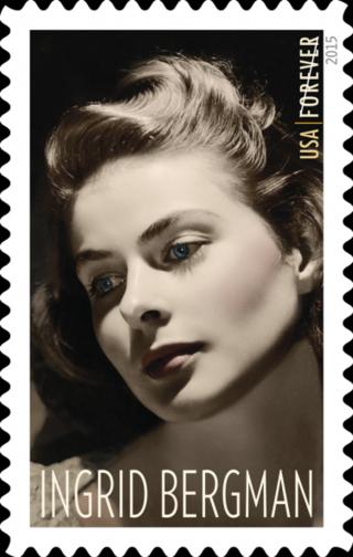 Stamp Release Ingrid Bergman Paul Newman