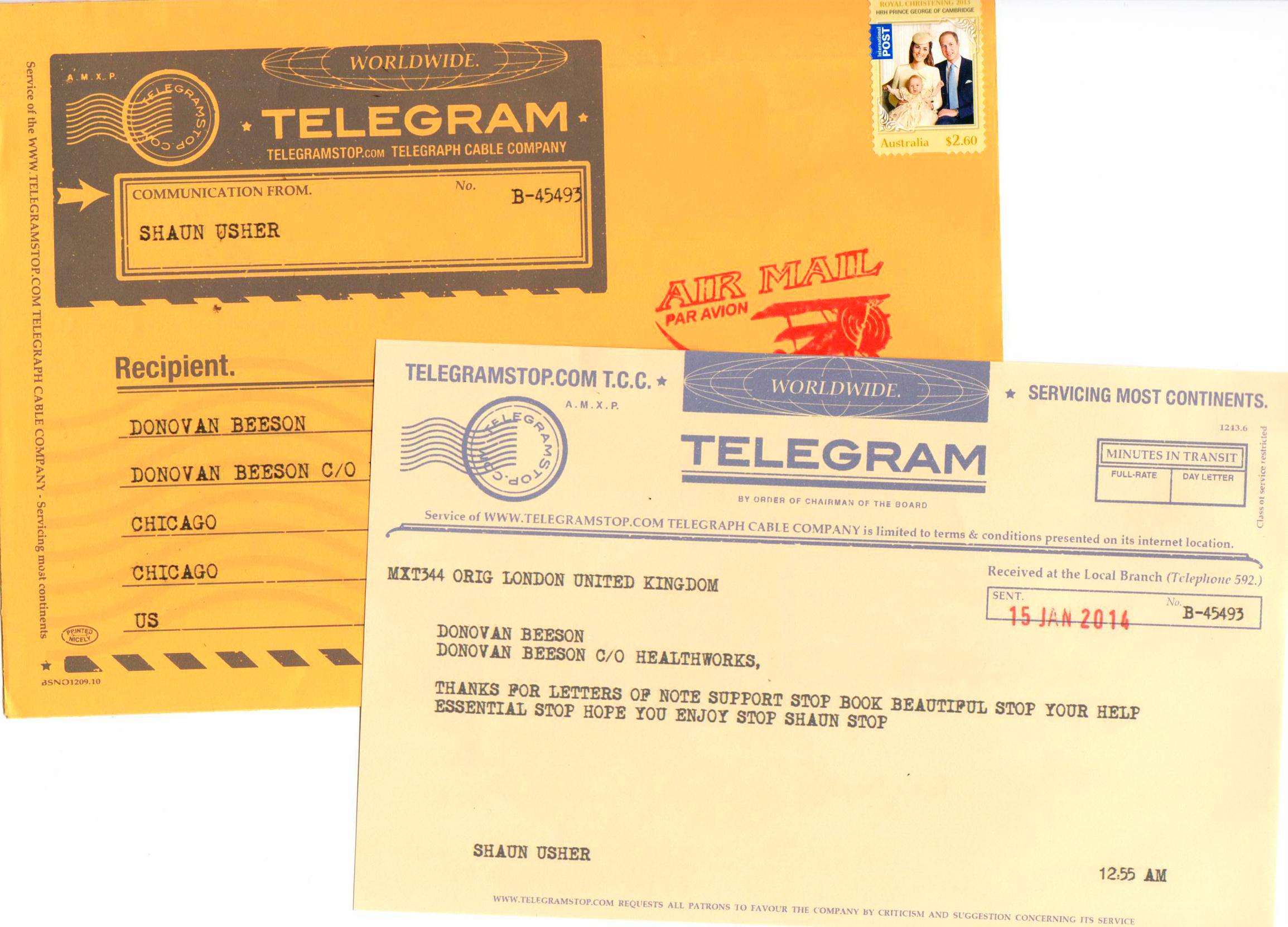 Letter writers alliance send a telegram sort of telegram from au spiritdancerdesigns Choice Image