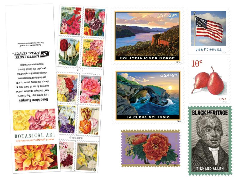 Jan Feb 2016 stamps