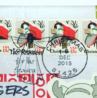 Olathe holiday postmark