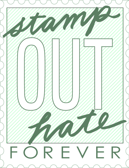 Stamp out sticker blue