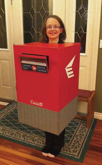 Mailbox costume
