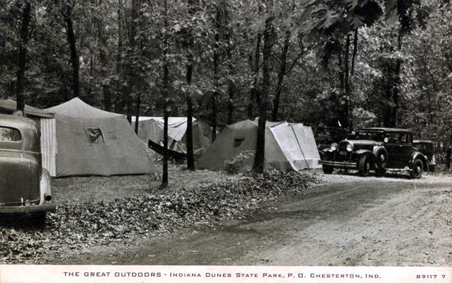 IndianaDunes075-StatePark-CarTentCamping-Circa1930-SS