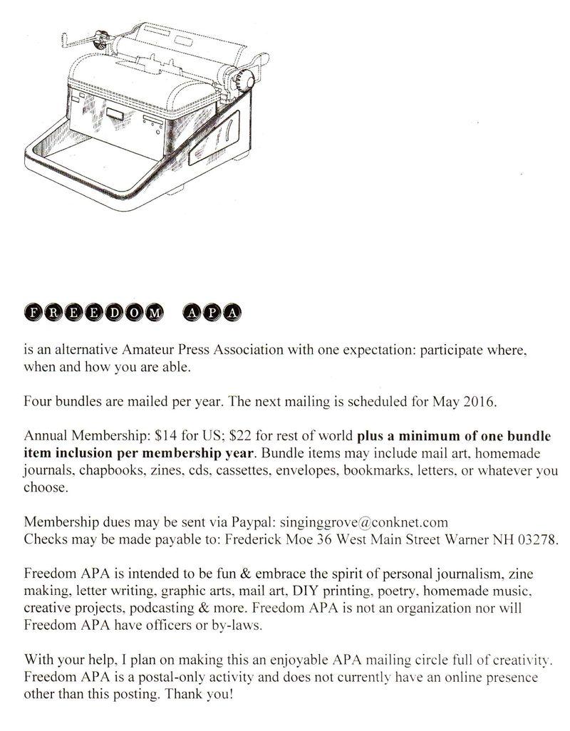 Letter Writers Alliance: Freedom APA