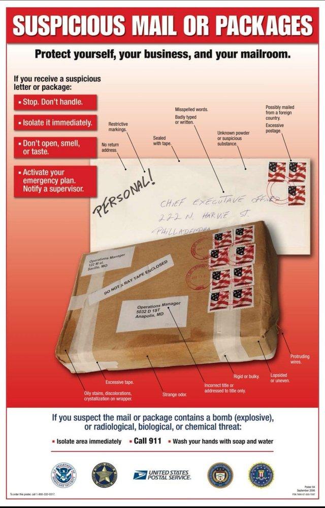 Suspicious mail