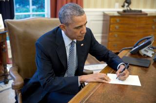 Obama writing