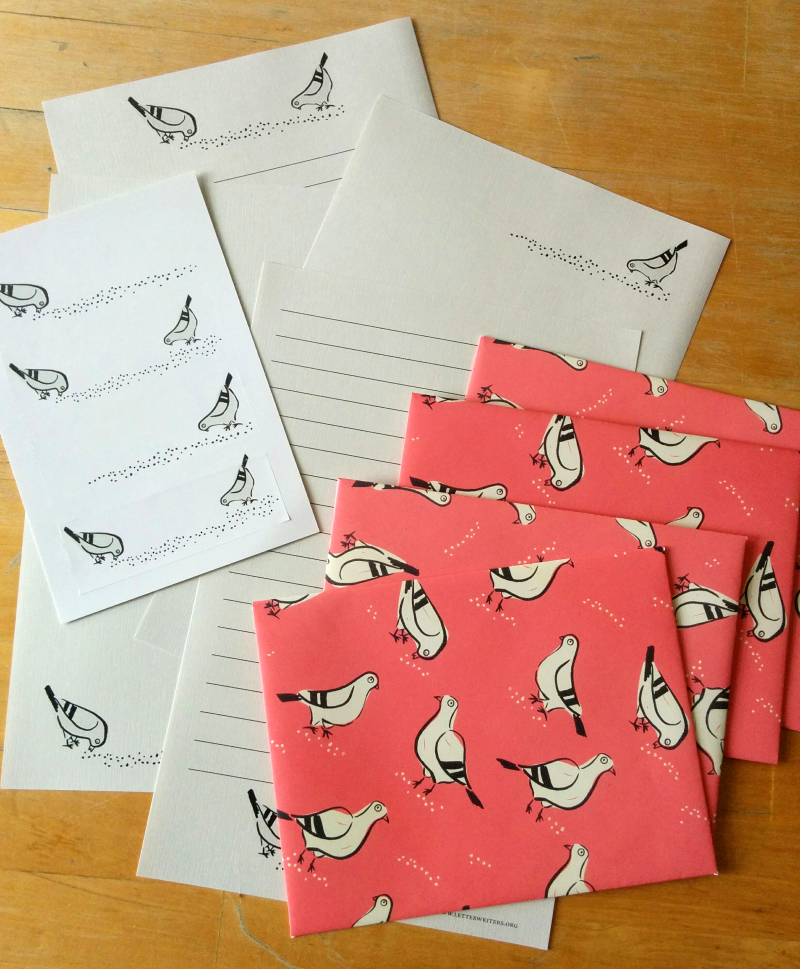 Pigeon mascot stationery 07