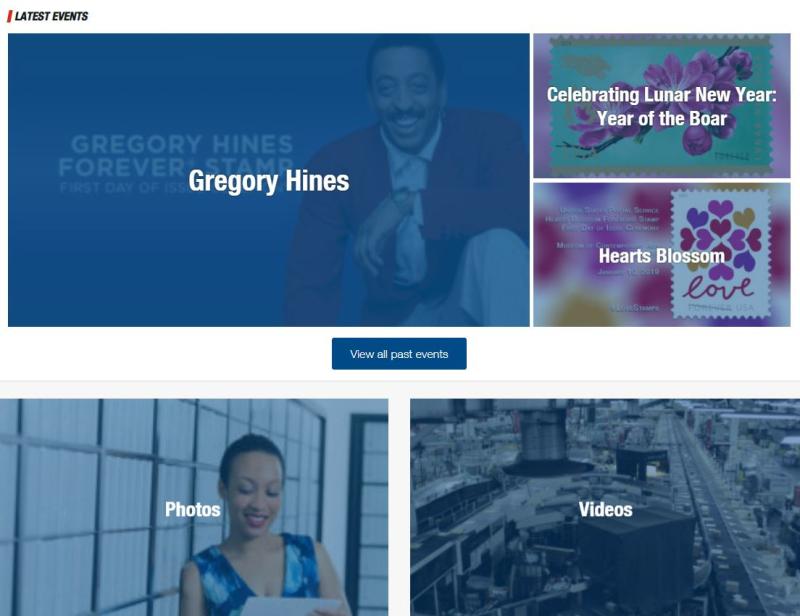 Usps new website
