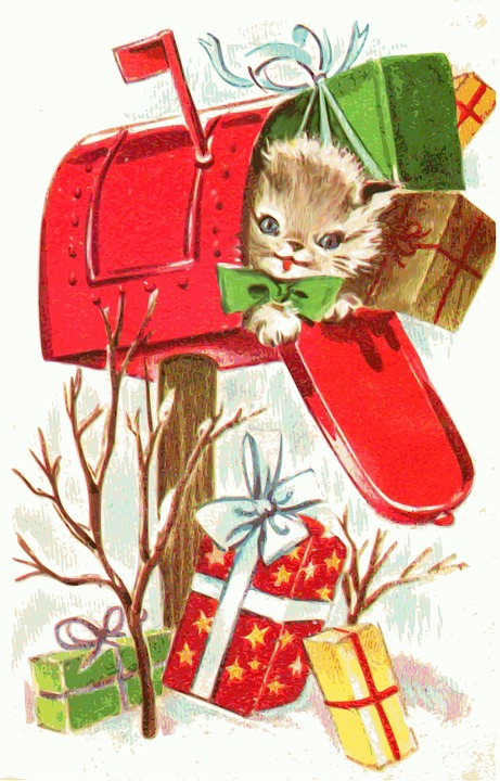 Christmas kitten 01