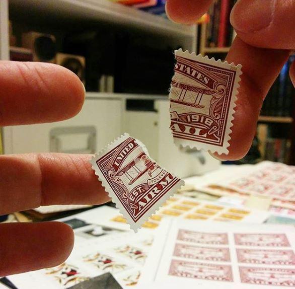 Broken stamp